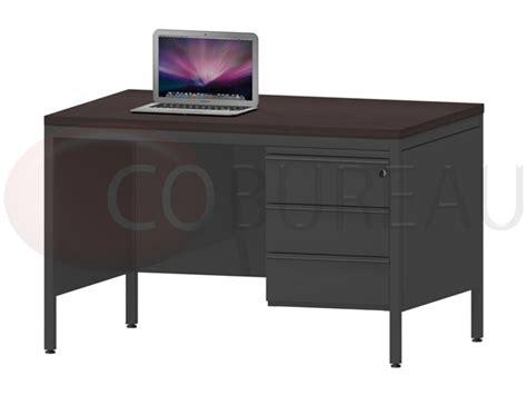 bureau 120 cm bureau demi ministre 120 avec caisson fixe 3 tiroirs