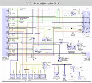 Wiring Harness Diagram For The Engine And Transmission