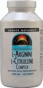 Source Naturals L-arginine L-citrulline Complex -- 1000 Mg - 240 Tablets