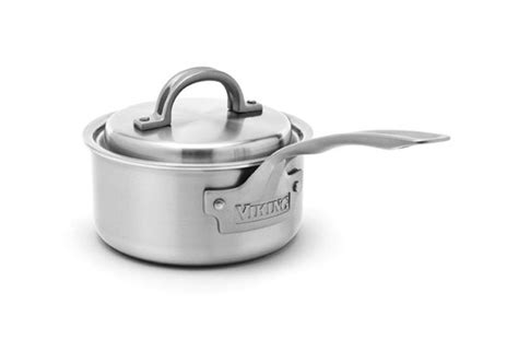 viking  stainless steel saucepan  quart cutlery
