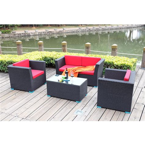 cheap price cafe furniture wholesale patio sofa set pe