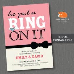 design indian wedding cards online free printable he put a ring on it engagement party by