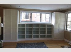 Cabinet storage and window seat wall on Pinterest Built