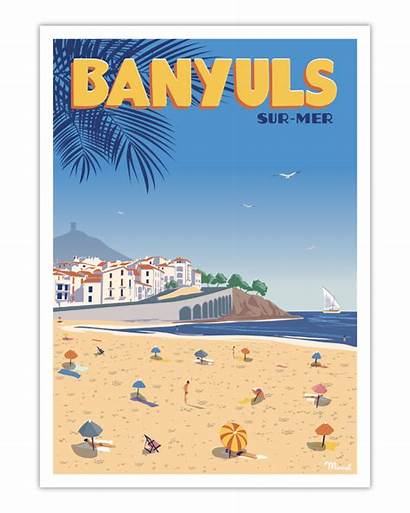 Poster Banyuls Mer Affiche Marcel Travelposters Lac