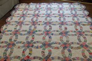 double wedding ring quilt tim latimer quilts etc With antique double wedding ring quilts for sale