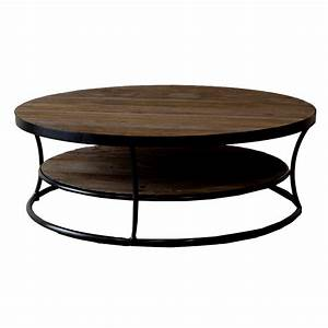 Milan reclaimed wood round coffee table buy wooden for Reclaimed teak wood coffee table