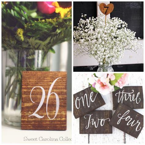 Rustic Wooden Table Numbers Rustic Weddings