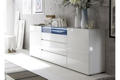 Buffet Design Laqué Blanc Brillant Cbcmeubles