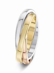 25mm Russian Style Three Colour Wedding Ring