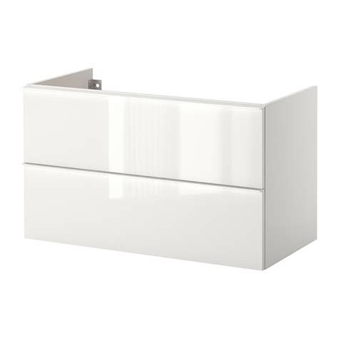 godmorgon sink cabinet with 2 drawers high gloss white