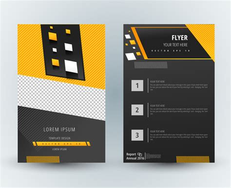 Best Sermina Flyer Template Without Background by Flyer Template Design With Modern Dark Background Free