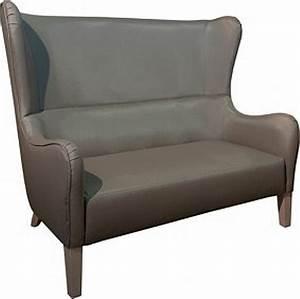 canape 3 places haut dossier axel bois assise fauteuil With canapé 3 places dossier haut