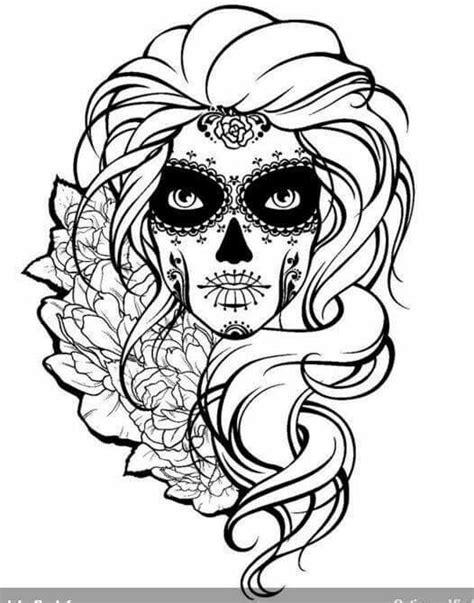 Sugar Skull   Sugar Skulls + Day of the Dead Coloring