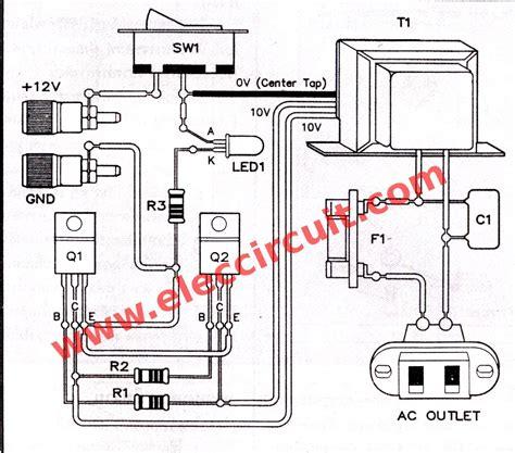 Simple Inverter Circuit Diagram Projects Eleccircuit