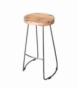 Tabouret Bar Bois : tabouret de bar design en bois et m tal ~ Teatrodelosmanantiales.com Idées de Décoration