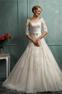 Ball gown illusion bateau neckline backless lace sleeve for Illusion sleeve wedding dress
