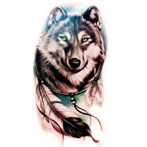 tatoo temporaire attrape r 234 ve loup