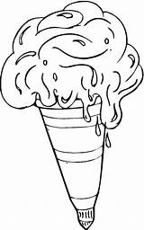 Coloring Pages Dessert Ice Cream Desserts Printable Food Coloringpages101 Getcoloringpages sketch template