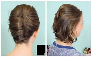 French Twist & Half Updo for Short hair! YouTube