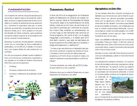 tripticos por el da del medio ambiente tripticos por el da del medio ambiente voces en educaci