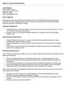 Surgical Resume Sle by Detailed Resume Sle With Description For Nurses 28