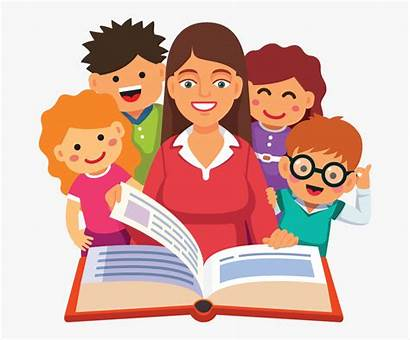 Teacher Reading Clipart Children Story Encourage Storytime