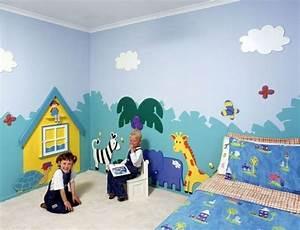 Ideen Für Kinderzimmer Wandgestaltung : wandmalerei kinderzimmer 21 ideen wie sie eine ganz ~ Lizthompson.info Haus und Dekorationen