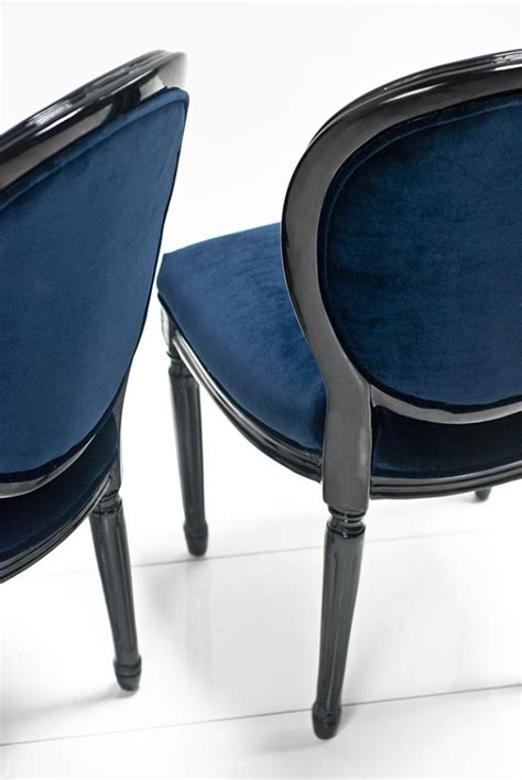 www roomservicestore louis dining chair in navy and