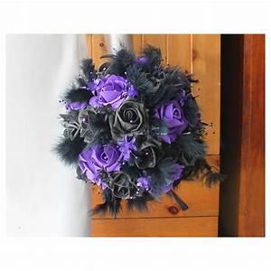 Bouquet De La Mariée : bouquet mari e gothique violet et noir perles plumes ~ Melissatoandfro.com Idées de Décoration