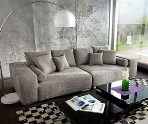 Couch Kissen Xxl : xxl couch marbeya hellgrau 285x115 inklusive kissen big sofa ~ Indierocktalk.com Haus und Dekorationen