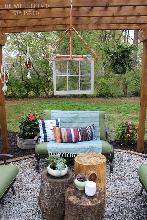 Give your backyard some bohemian flair
