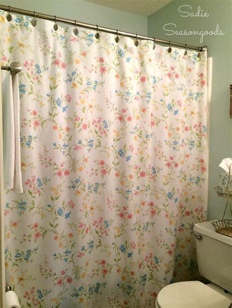 vintage sheet shower curtain allfreesewingcom