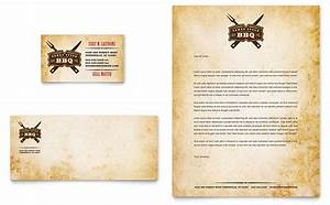 restaurant letterhead templates free - steakhouse bbq restaurant business card letterhead