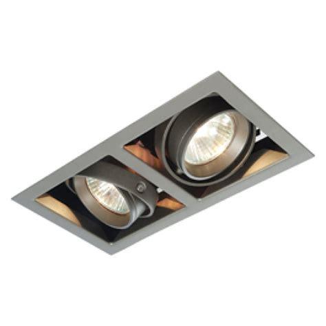 decorative fluorescent light saxby mr00201 box mr16 2x50w adjustable downlight