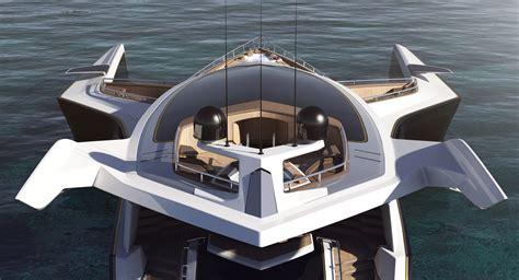 New Luxury Yacht Design Of Trimaran