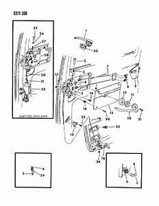 1989 Dodge Ram Van Door  Sliding Handle  U0026 Latch