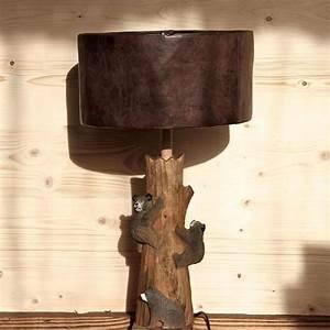 Lampe Sur Pied En Bois : pied de lampe bois sculpt trois petits ours les ~ Dailycaller-alerts.com Idées de Décoration