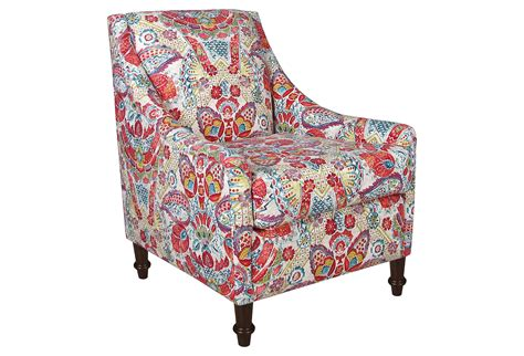 Holmes Swoop-arm Chair, Red Multi Floral, From One Kings Lane
