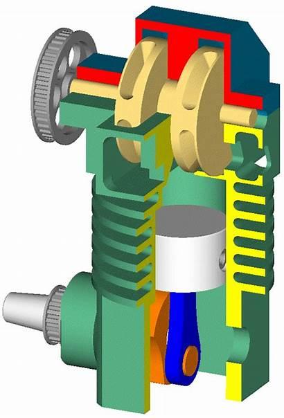Stroke Valve Engine Rotary Patrova Piston Working