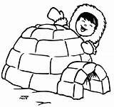 Igloo Coloring Pages Eskimo Fan Drawing Penguin Printable Electric Template Preschool Clipartmag Getcolorings Letter Hut Templates Kid Happy American sketch template