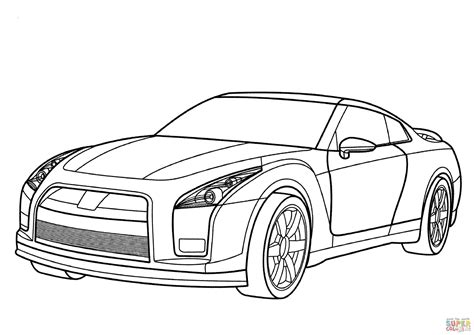 nissan gt  coloring page  printable coloring pages