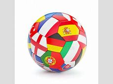 Soccer ball with world flags — Stock Photo © vahekatrjyan