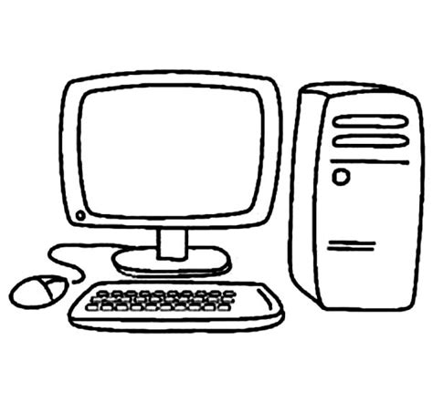 Coloring On Computer by Computer Coloring Book Clipart Best