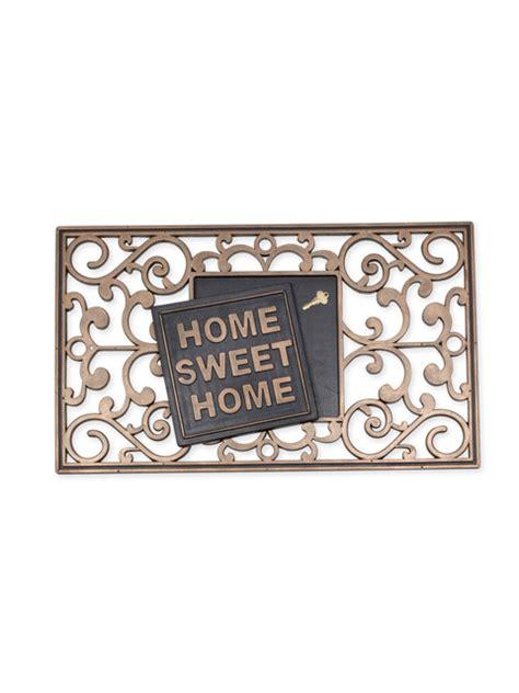 Key Doormat by 30 Quot X 18 Quot Rubber Quot Home Sweet Home Quot Hide Key Doormat Front