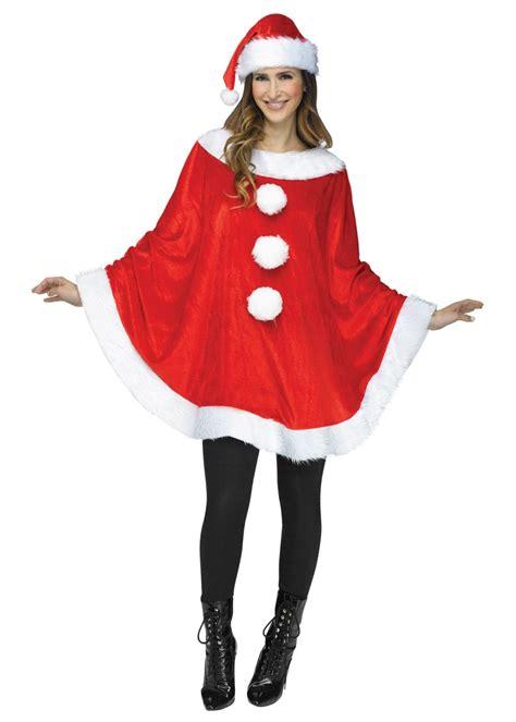 santa poncho woman costume christmas costumes