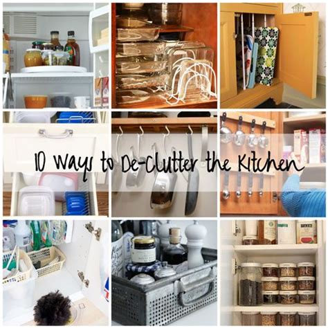 ways to organize a small kitchen 10 ways to declutter the kitchen diy kitchen 9606