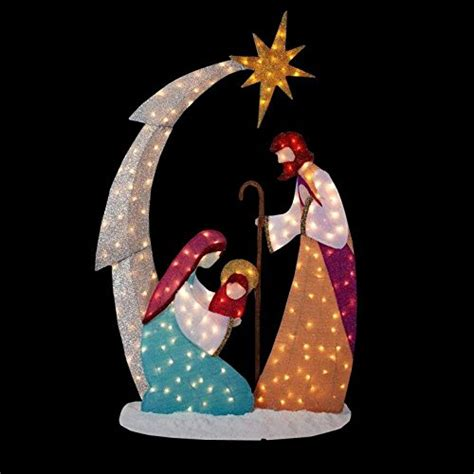 jesus outside christmas lights nativity lighted yard displays wikii