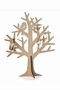 Support à Bijoux : support bijoux arbre pommier en bois a peindre ou d corer bijoux ~ Teatrodelosmanantiales.com Idées de Décoration