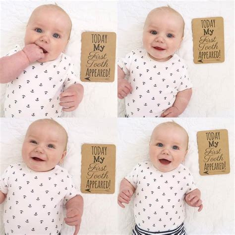 The cards include weeks and months of the first year, events (first party, mother's. Baby Milestone cards   Big Little Things