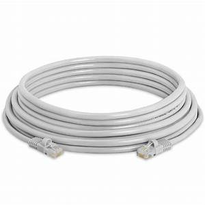 Rj45 Cat5e Ethernet Lan Network Gray Cable With Molded